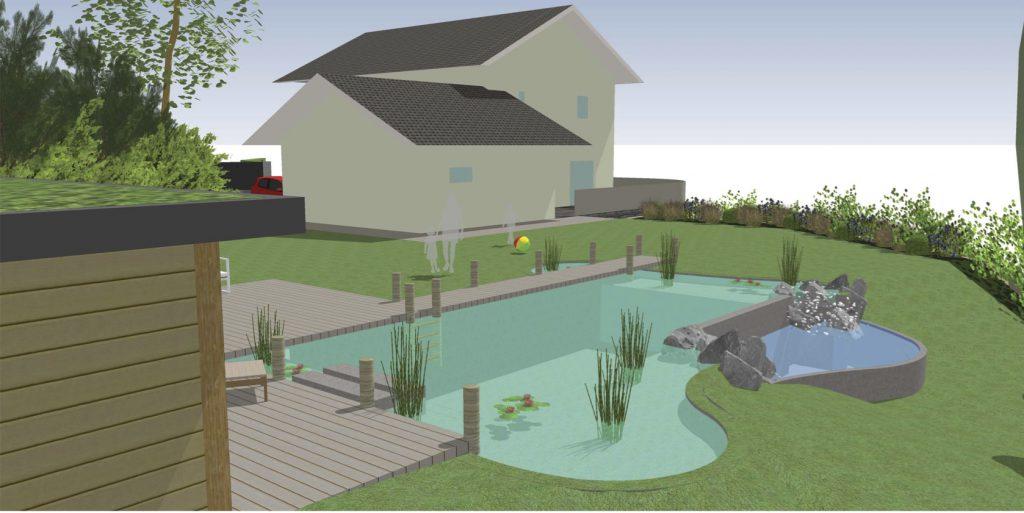 Projet de piscine naturelle en savoie aquatech sas for Petite piscine naturelle